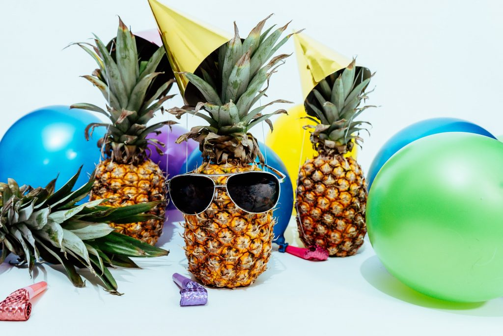 Pineapple Party with Balloons